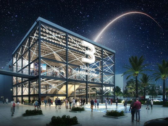 This is an artist's rendering of the future Cruise Terminal 3 at Port Canaveral, which will be home to Carnival Cruise Line's biggest ship.
