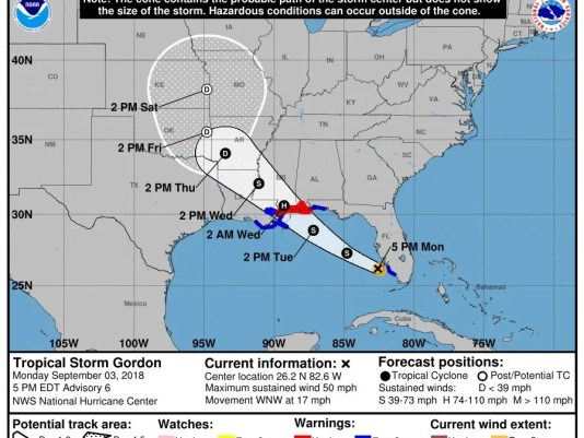Epa Usa Sturm Gordon Wea Warnungen Usa
