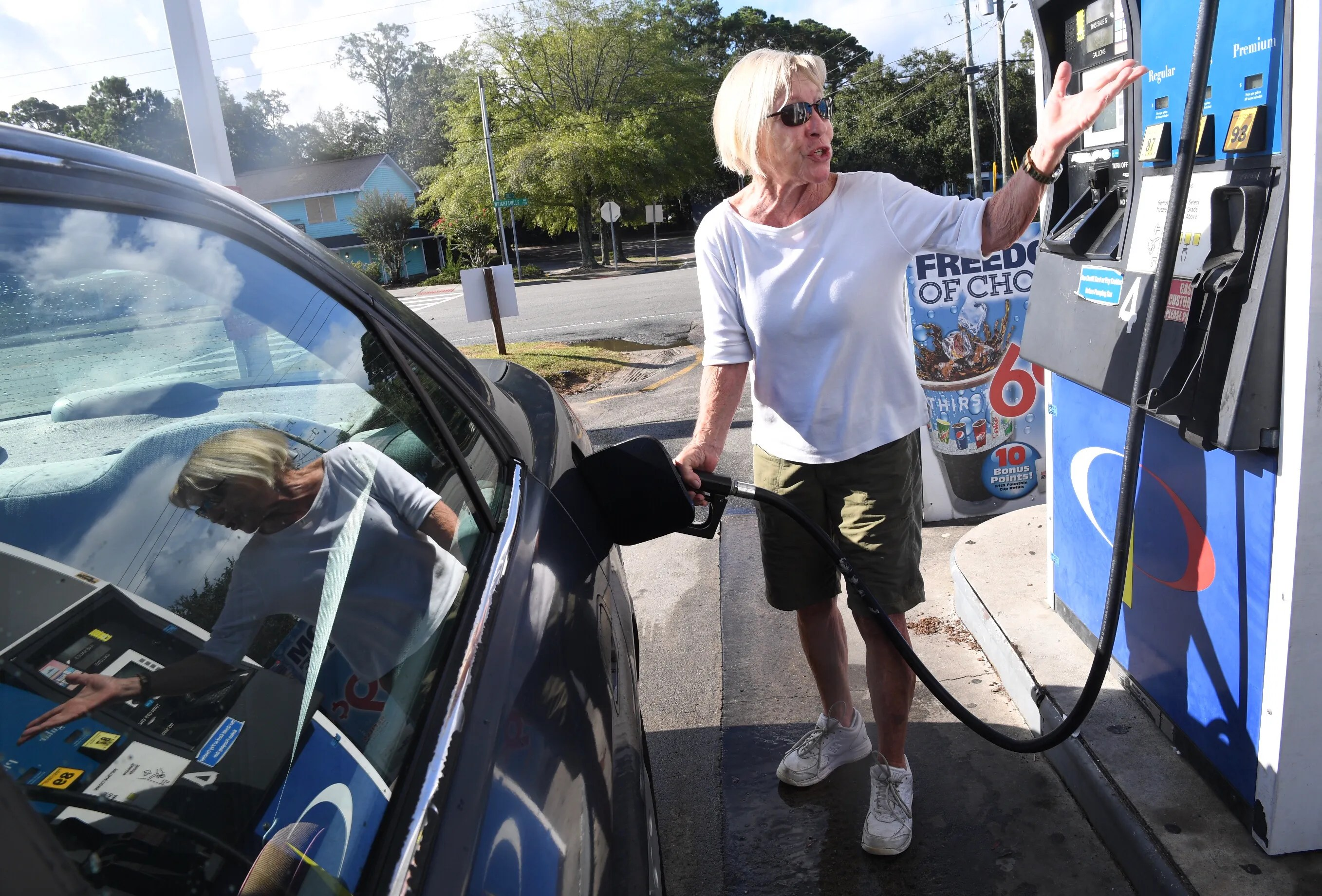 Hurricane Florence  Gasoline shortages spike in North  South Carolina Margie Garrabrand Gasoline Gas Station Hurricane Florence