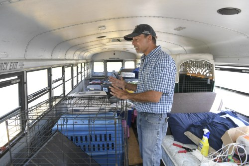 East Tennessee resident and truck driver Tony Alsup drove his school bus to South Carolina to rescue shelter dogs and cats in the path Hurricane Florence.  Alsup transported 64 dogs and cats to Alabama and plans to go back.