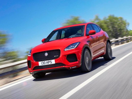 This undated photo provided by Jaguar shows the 2018 Jaguar E-Pace. At $39,595, the E-Pace has the second-highest base price in the class, right after the corporate sibling on which it's based, the Land Rover Range Rover Evoque. (Courtesy of Jaguar Land Rover North America via AP)