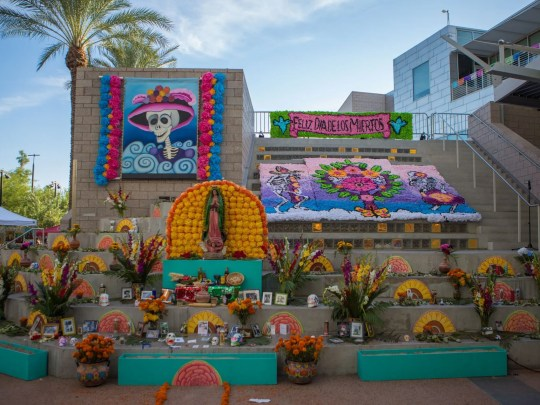The Mesa Arts Center held Dia De Los Muertos festivities.