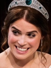 Princess Eugenie of York wears the Queen's Greville Emerald tiara during her wedding to Jack Brooksbank at St George's Chapel, Windsor Castle, in Windsor, on Oct. 12, 2018.