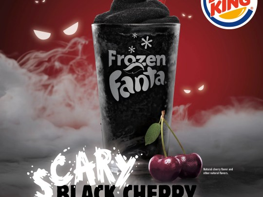 For a limited time, Burger King has a Scary Black Cherry-flavored Frozen Fanta.