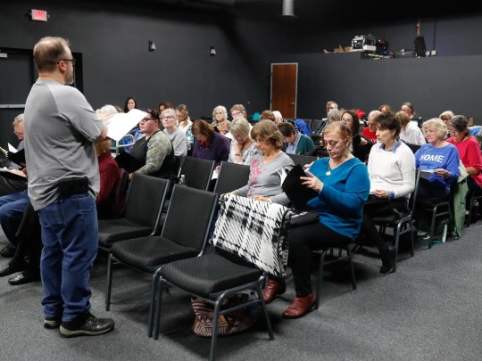 Director Marc Feeney, standing, leads a Fishers Music Works' Projekt: Opera rehearsal for Dido & Aeneas, at Ji-Eun Lee Music Academy in Fishers Ind. on Thursday Nov. 1, 2018.