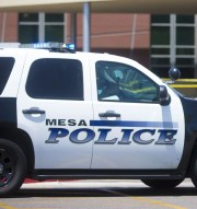 A Mesa police officer who was charged with aggravated assault last week after shooting an unarmed man in December has been fired from the department.