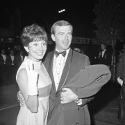 Ken Berry and his then-wife Jackie Joseph arrive for the West Coast premiere of