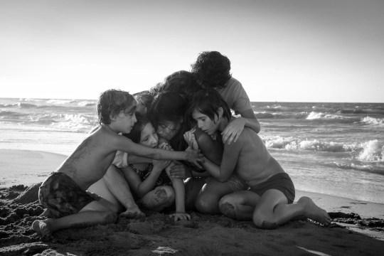 """Roma"" features (from left) Marco Graf,  Daniela Demesa, Yalitza Aparicio, Marina de Tavira, Diego Cortina Autrey and Carlos Peralta Jacobson."