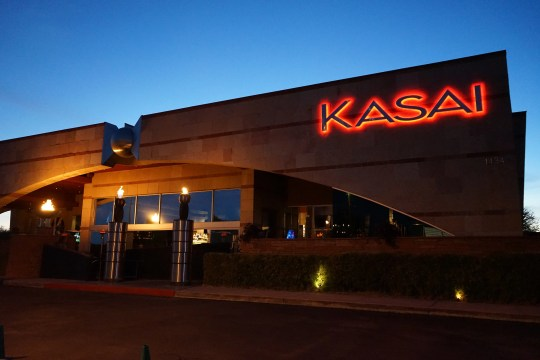 The exterior of Kasai Asian Grill in Scottsdale.