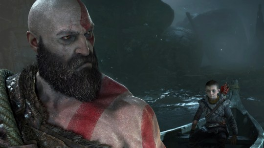 """In the Sony PlayStation 4 game, 'God of War,"""" Kratos and his son, Atreus, explore the land of Norse mythology."""