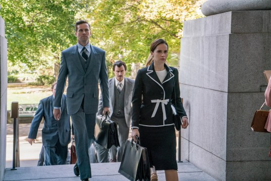 Together, Marty (Armie Hammer, left) and Ruth Bader Ginsburg (Felicity Jones) argued and won the 1972 tax case