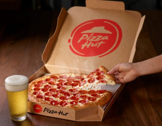 Pizza Hut was named the NFL official pizza sponsor last year.