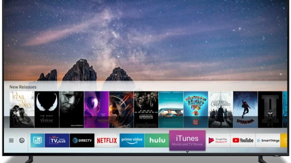 Samsung TV with the iTunes app.