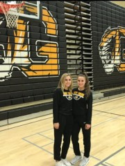 Gilbert senior guards and twins Haley Cavinder (left) and Hanna Cavinder (right)