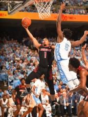 Louisville guard Christen Cunningham put up a shot against North Carolina's Nassir Little on Saturday.