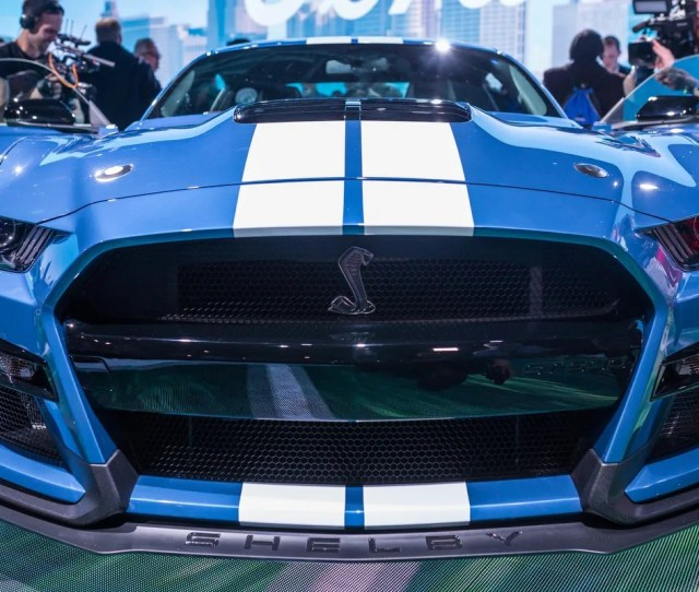 The All New 2020 Mustang Shelby Gt 500 Is Seen During The 2019 North American
