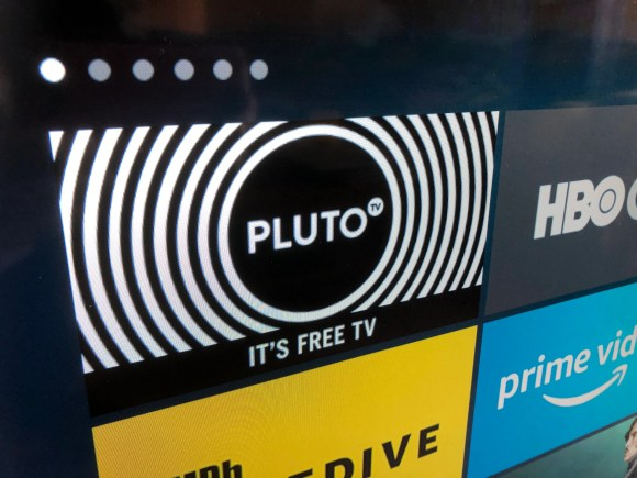 The icon for Pluto.TV on an Amazon Fire TV