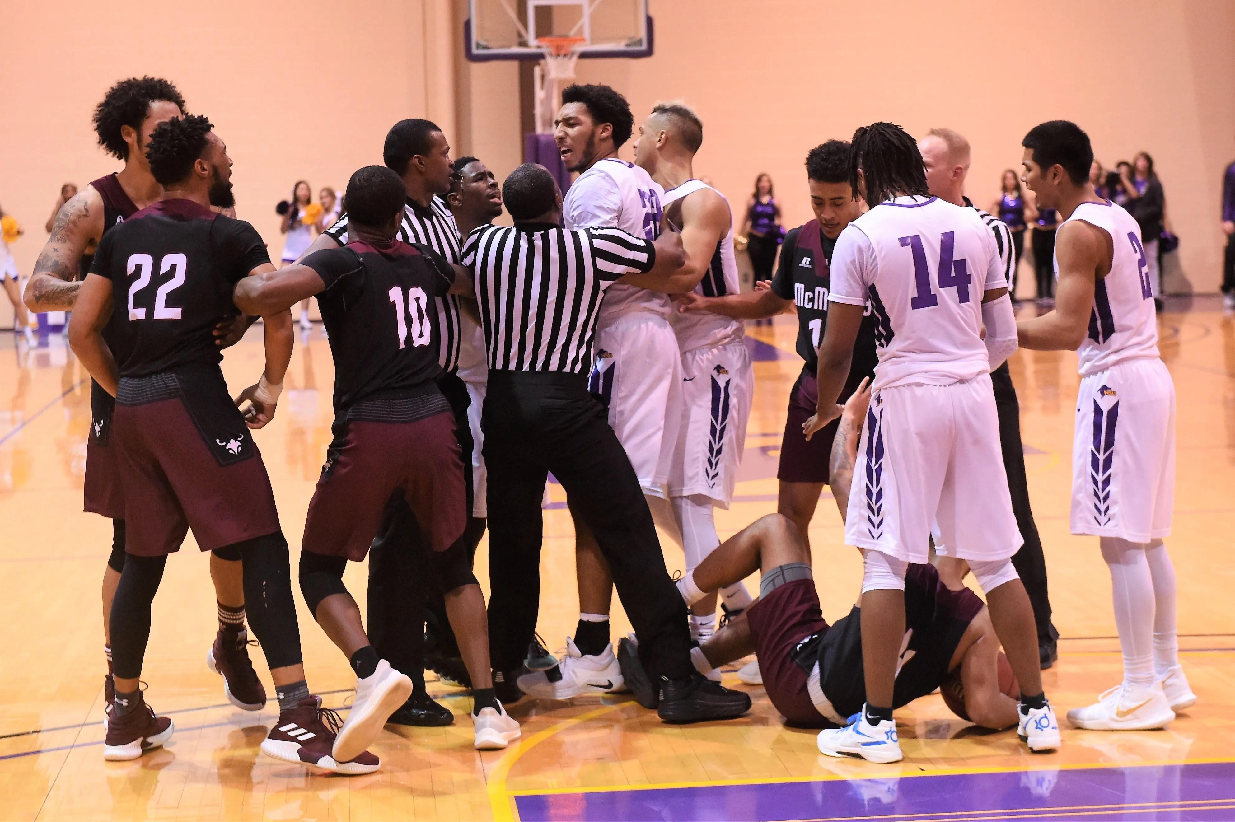 Mayhem at Mabee: McMurry men's basketball holds off HSU ...