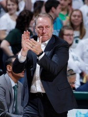 Tom Izzo, Michigan State coach, reacts during the second half of the US $ 79-55 win on Saturday, February 9, 2019, in East Lansing.