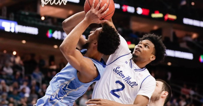 Image result for Georgetown Hoyas vs Seton Hall Pirates College Basketball 2019