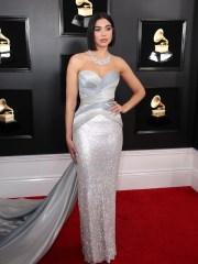 Dua Lipa on the Grammys red carpet.