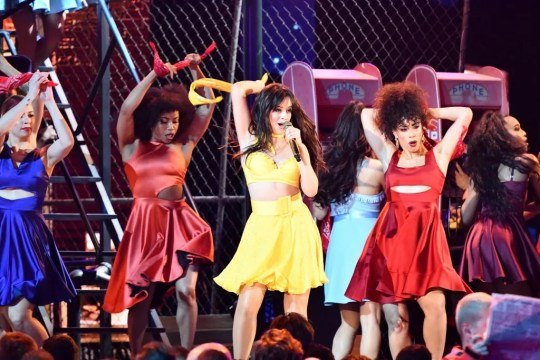 "Camila Cabello performs ""Havana"" during the 61st Annual GRAMMY Awards on Feb. 10, 2019, in Los Angeles, Calif."