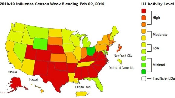 Informe del nivel de actividad de la influenza