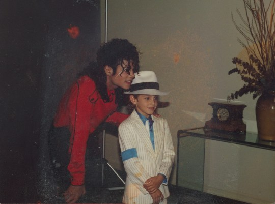 """Michael Jackson, left, with a young Wade Robson, who now claims the """"Thriller"""" star sexually abused him for seven years."""