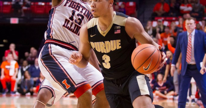Image result for Illinois Fighting Illini vs Purdue Boilermakers college basketball 2019