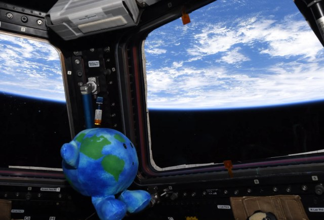 2f4d09c1-4209-4192-a59c-222e924965ce-D01QONxXQAAPAnw 'Little Earth' is sold out: How the plush toy stole the show in SpaceX Crew Dragon mission