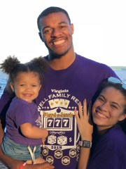 State basketball player Xavier Tillman meets his 2-year-old daughter Ayanna and her Tamia Todd fiancé.