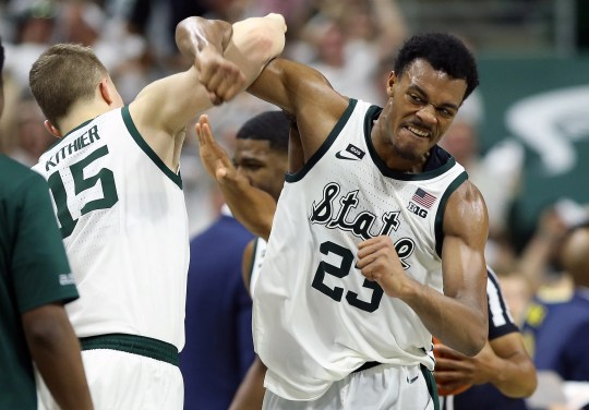 Michigan State Xavier Tillman forwarded to the sixth of the year of the decade of this season. Tom Izzo thinks he has an NBA potential.