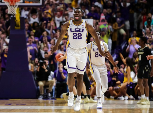 LSU (26-6), No. 3 seed in East, at-large bid out of the Southeastern Conference