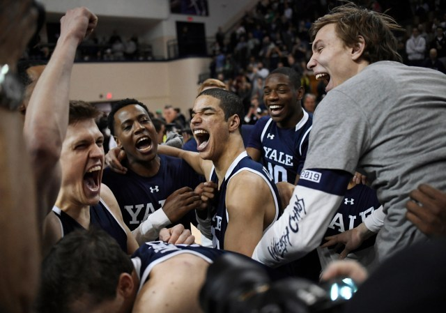 Yale (22-8), No. 14 seed in East, Ivy League champion. Eliminated in first round.