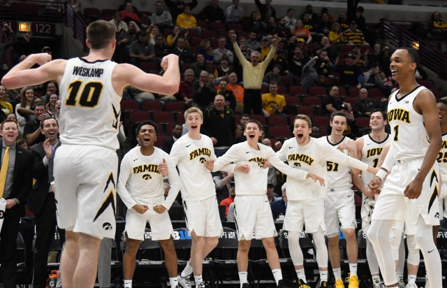 Iowa (22-11), No. 10 seed in South, at-large bid out of Big Ten Conference