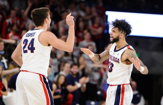Gonzaga (30-3), No. 1 seed in West,  at-large bid out of West Coast Conference