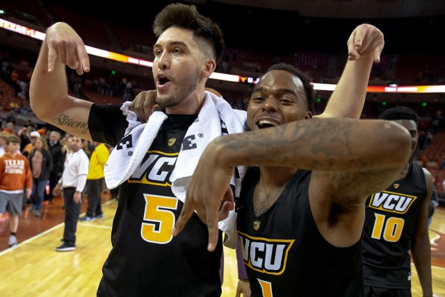 VCU (25-7), No. 8 seed in East, at-large bid out of Atlantic 10 Conference. Eliminated in first round.