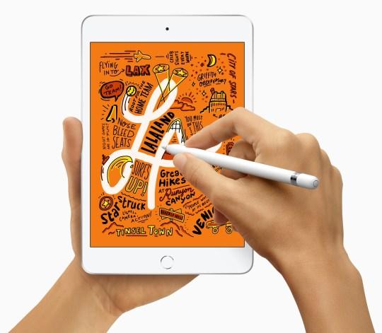 The new iPad Mini supports Apple Pencil.