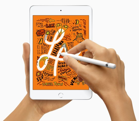 The new iPad Mini supports Apple Pencil.