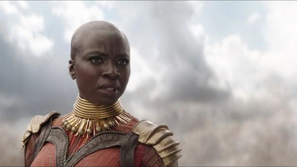 Okoye (Danai Gurira) is one of the main warriors, male or female, of Wakanda in the Marvel movies.