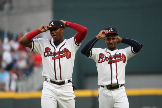 Braves youngsters Ronald Acuna Jr. and Ozzie Albies.