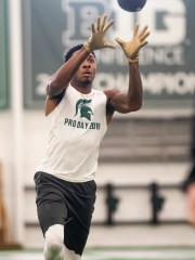 Michigan State Cornback Justin Layne could be a Day 2 option for the Lions in the NFL Draft.