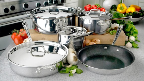 You can save a tidy little sum on top cookware sets like this from All-Clad.