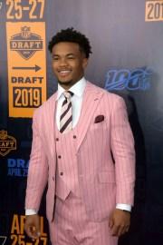 Former Oklahoma QB Kyler Murray on the red carpet of the NFL draft in Nashville.