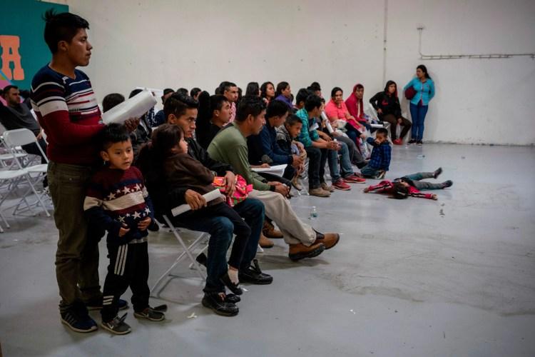 Migrant children wait for travel arrangements at the Casa del Refugiado in El Paso, Texas, in April 2019.