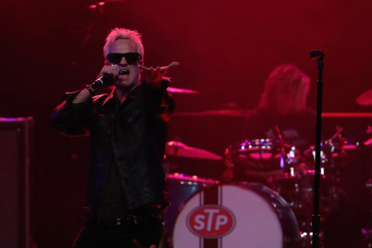 Jeff Gutt of Stone Temple Pilots performs at Marquee Theatre on March 10, 2018 in Tempe, Arizona.