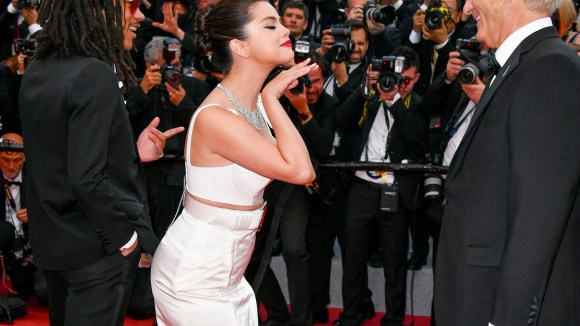 """Luka Sabbat, Selena Gomez and Bill Murray attend the opening ceremony and screening of """"The Dead Don't Die"""" at Cannes Film Festival."""
