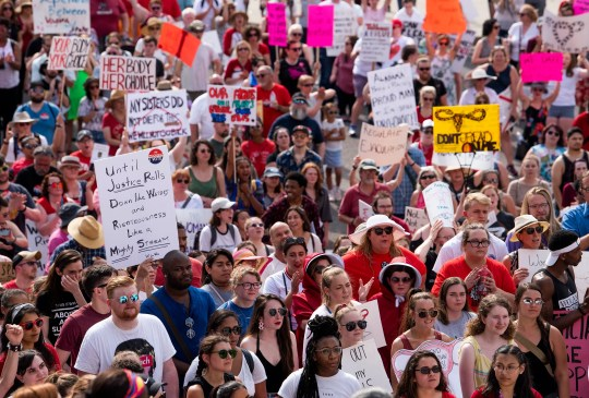 The March for Reproductive Freedom takes place in the center of Montgomery, Ala on Sunday afternoon.
