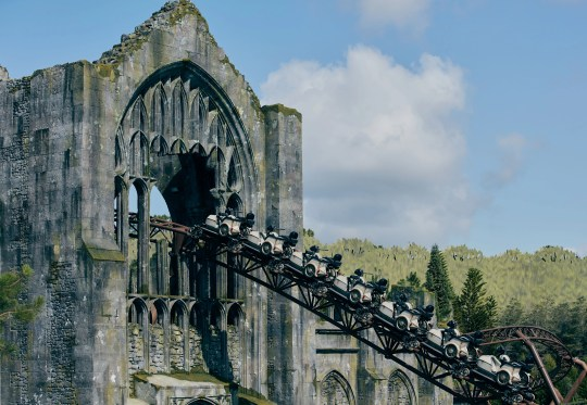 Hagrid's Magical Creatures Motorbike Adventure roller coaster opens June 13 at Universal Orlando's Wizarding World of Harry Potter.