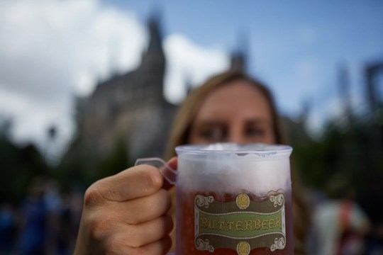 Butterbeer at Universal Orlando's Wizarding World of Harry Potter.